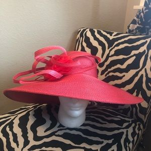 NWT Red Fine Millinery hat by August hat company